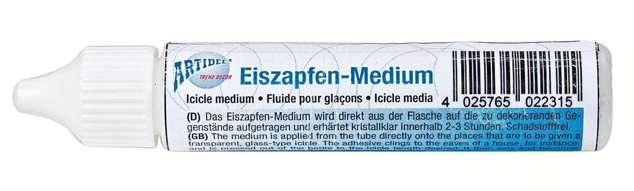 Eiszapfen-Medium, transparent