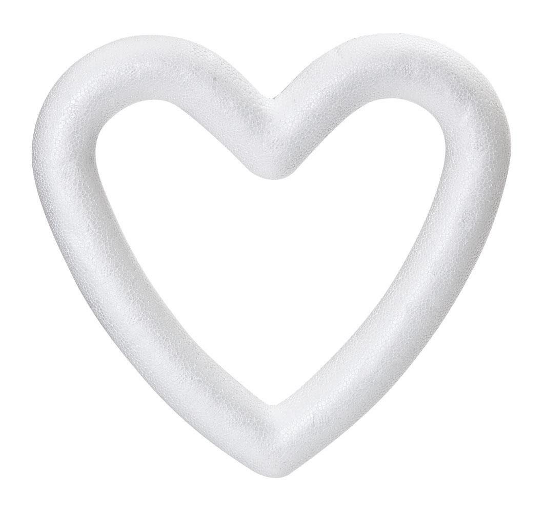 Styropor-Herzrahmen