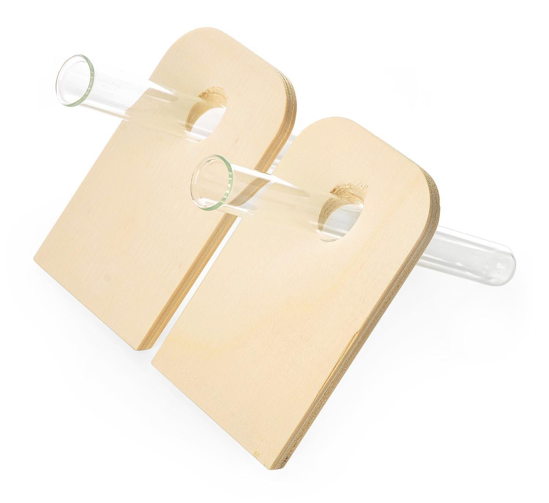 VBS Holzaufsteller für Reagenzglas, 2 Stück