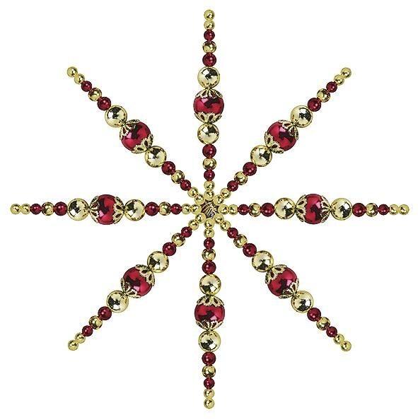 Weihnachtsstern Bastelset in Rot-Gold