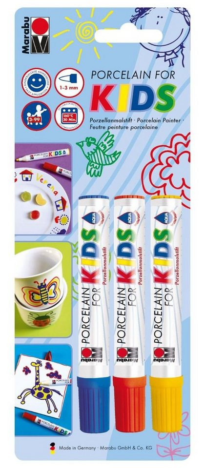 Marabu Porcelain for Kids, 3er Set