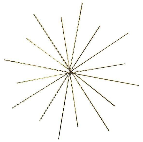 VBS Drahtform Doppelstern Ø ca. 10/8cm, 3 Stück