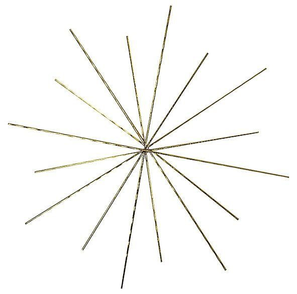 VBS Drahtform Doppelstern Ø ca. 15/10cm, 3 Stück