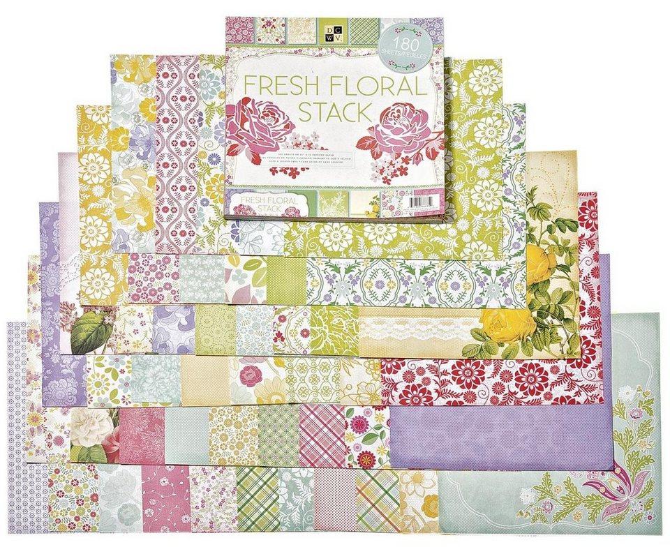 """die cuts with view Scrapbook Block """"Fresh Floral"""", 180 Blatt"""