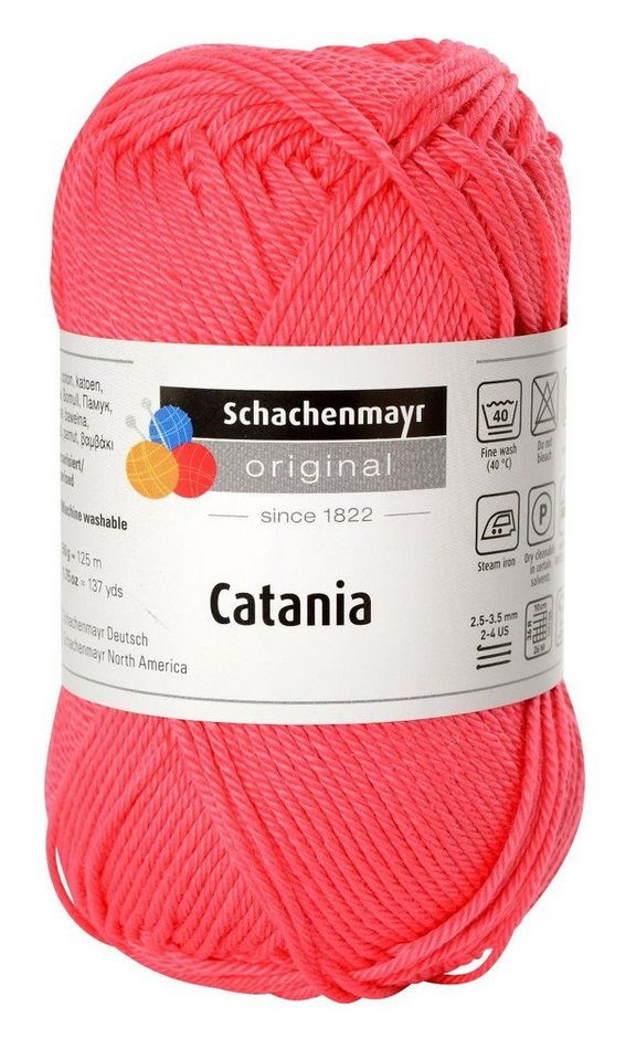 """Schachenmayr Wolle """"Catania"""" in Himbeer, Farbe 256"""