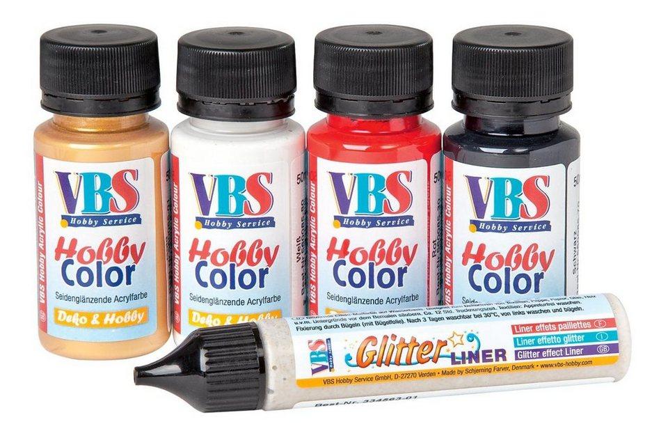 "VBS Hobby Color Farbset ""Weihnachten"" + Gratis Liner, 5er-Set"