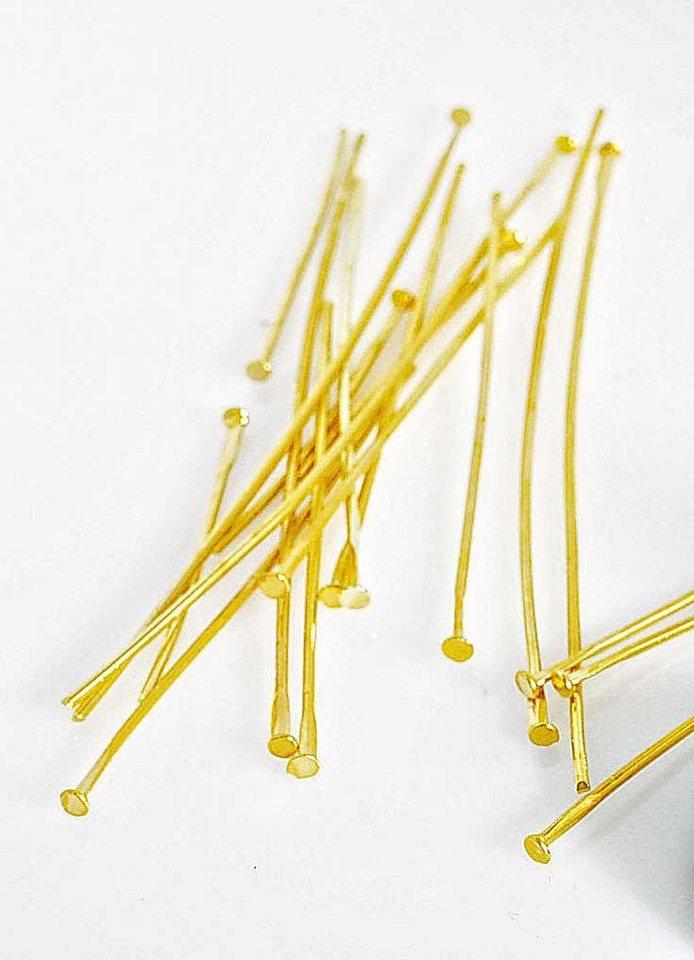 Stifte für Zauberperle, 50 Stück in Gold