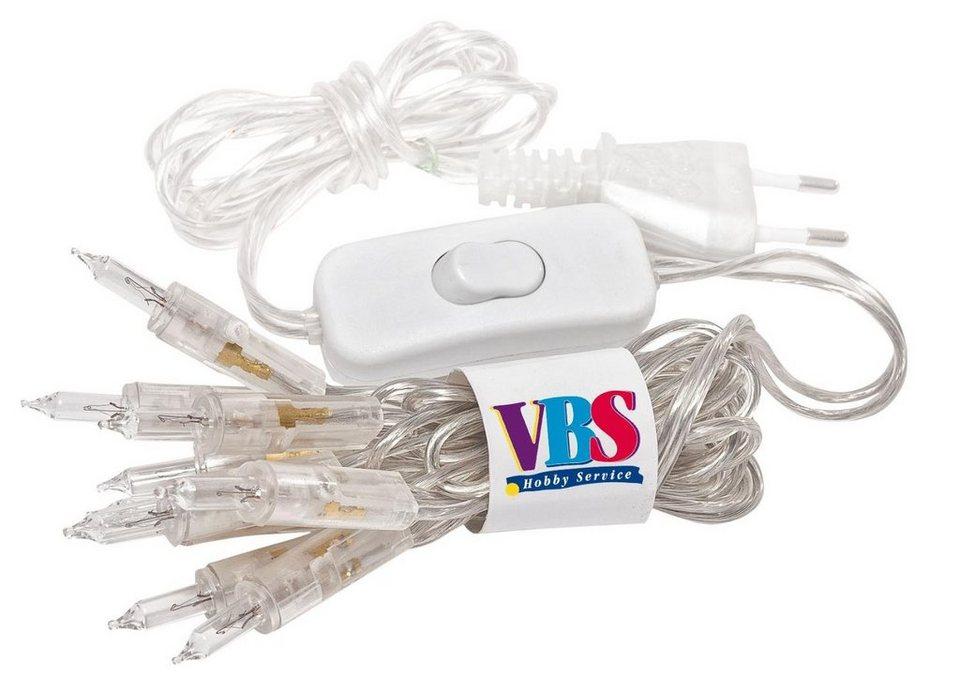 VBS Mini-Lichterkette mit Schalter, transparent