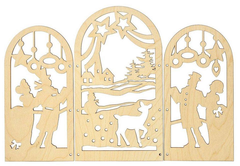 """Triptychon """"Christmas"""", aus Sperrholz"""