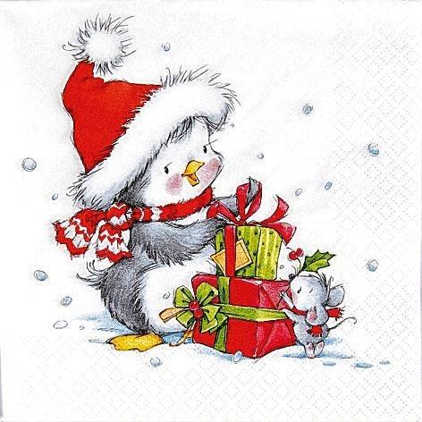 """Serviette """"Weihnachtsfreunde"""""""