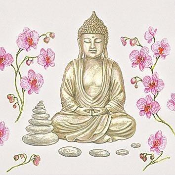 """Serviette """"Zen Buddha"""""""