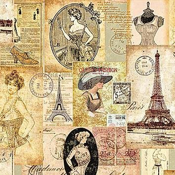 "Serviette ""Paris Fashion"""