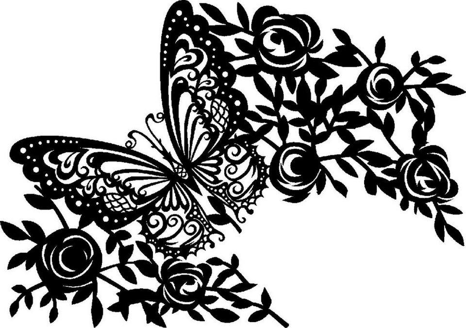 """Maskier Schablone DIN A4, """"Butterfly"""" kaufen"""