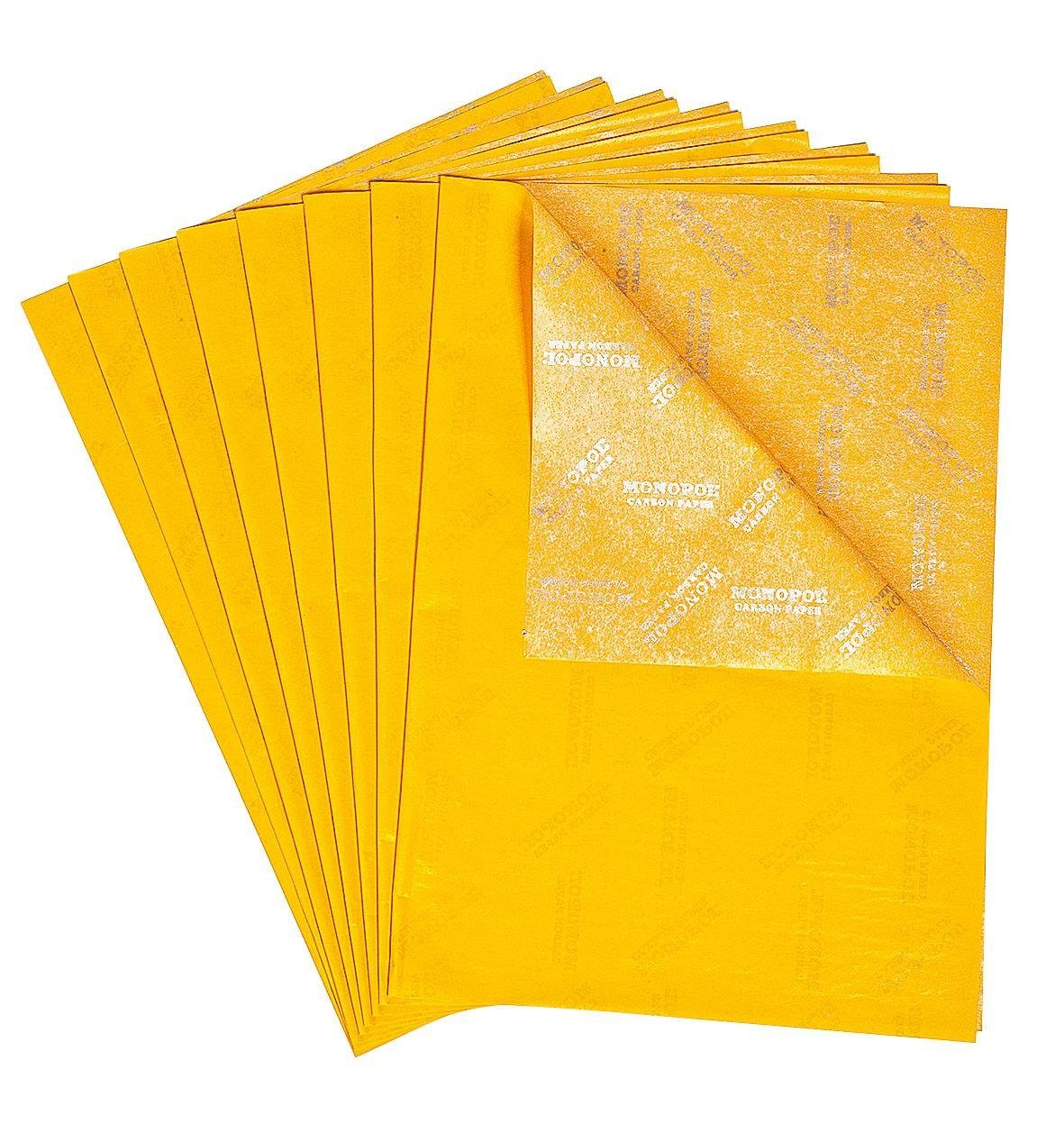 Durchschreibepapier, gelb