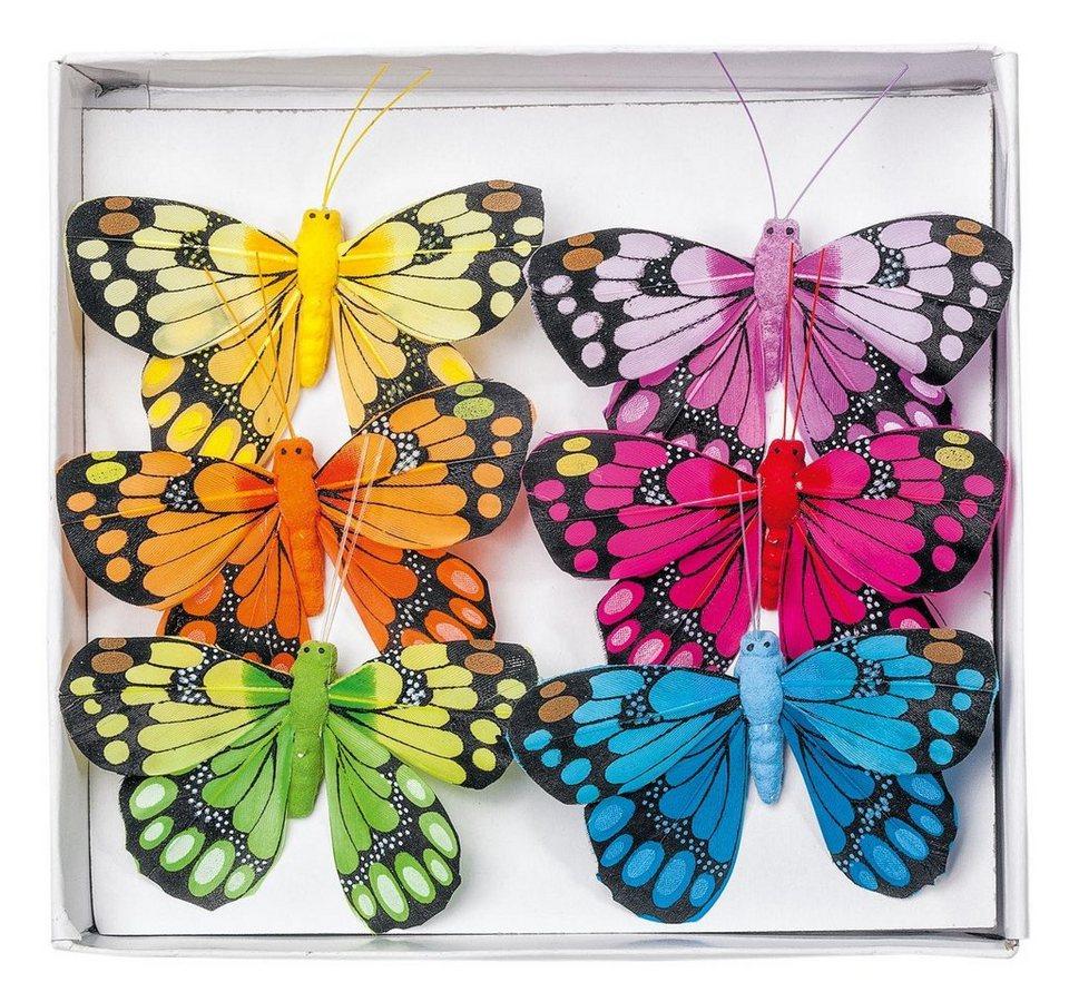VBS Deko-Schmetterlinge, 6er-Set