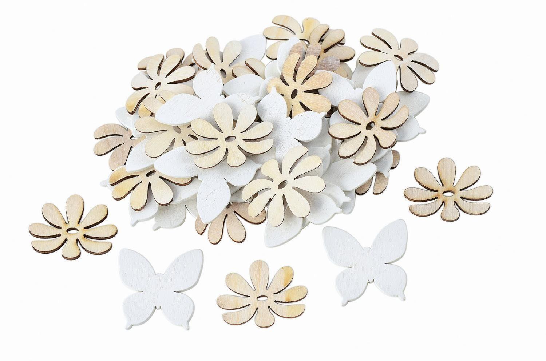 "VBS Streuteile ""Blumen & Schmetterlinge"", 48-teilig"