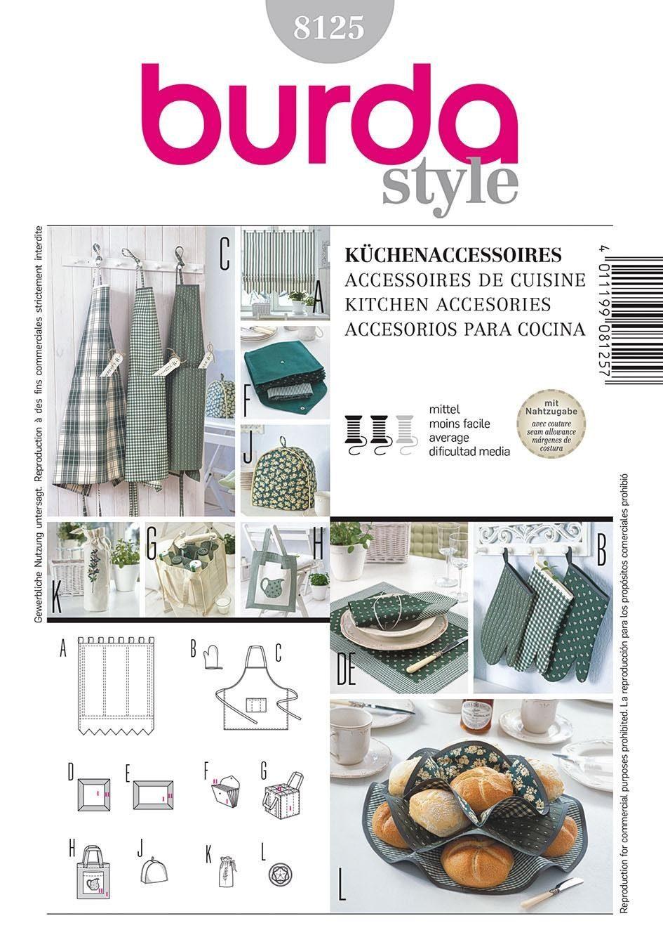 Burda Schnittmuster Küchen-Accessoires Nr. 8125