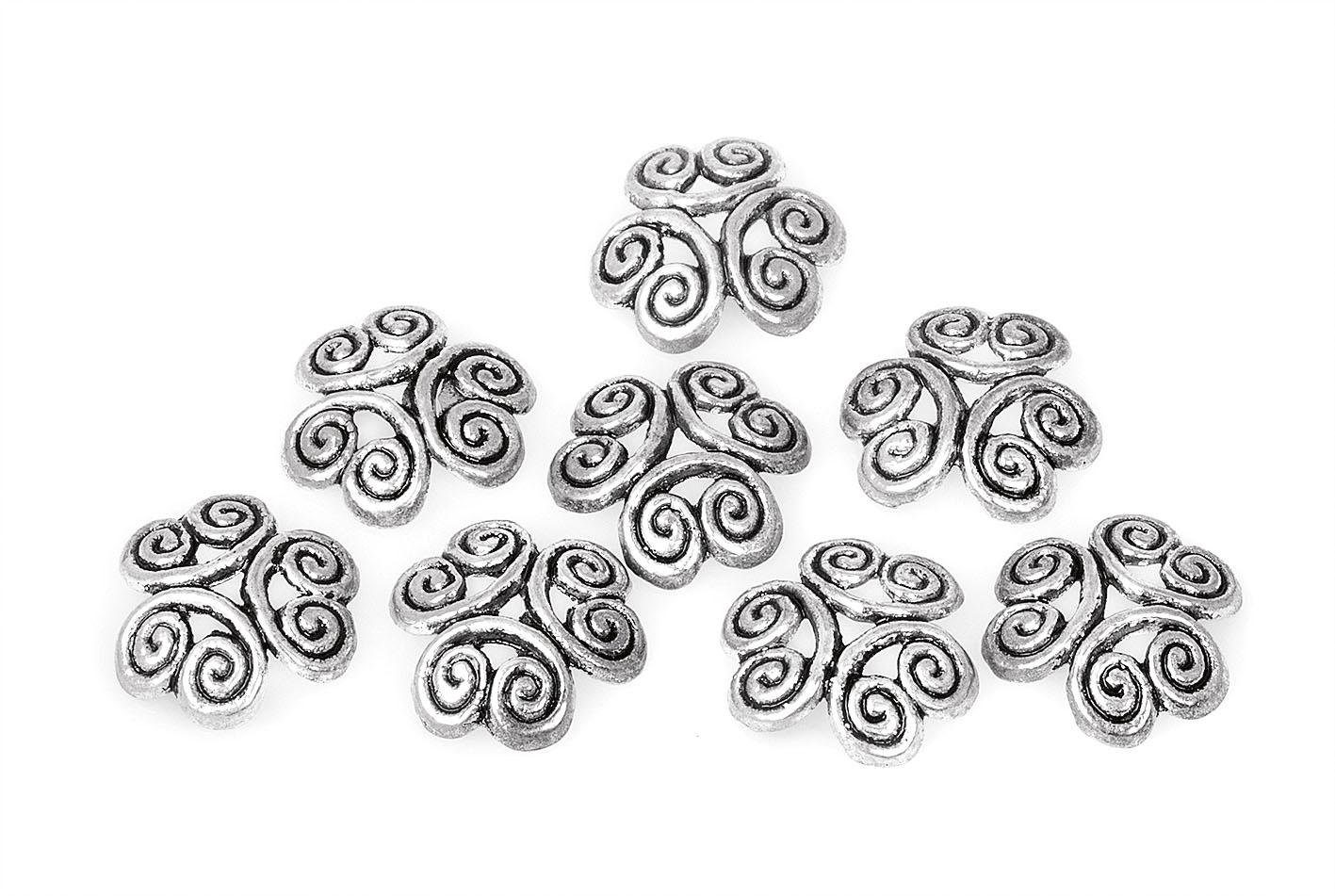 "Zier-Perlkappen ""Ornament"", 8 Stück"