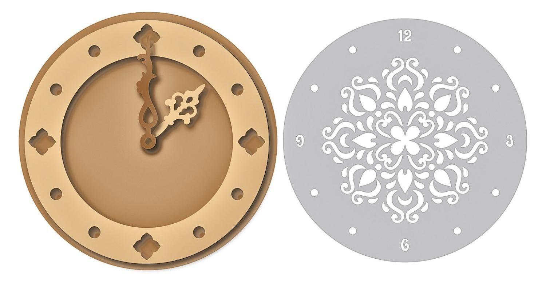 MDF-Uhr mit Schablone