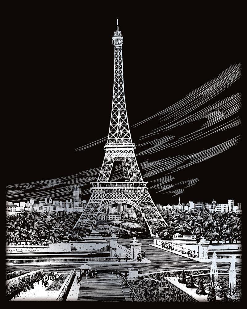 """Kratzbild """"Eiffelturm"""""""