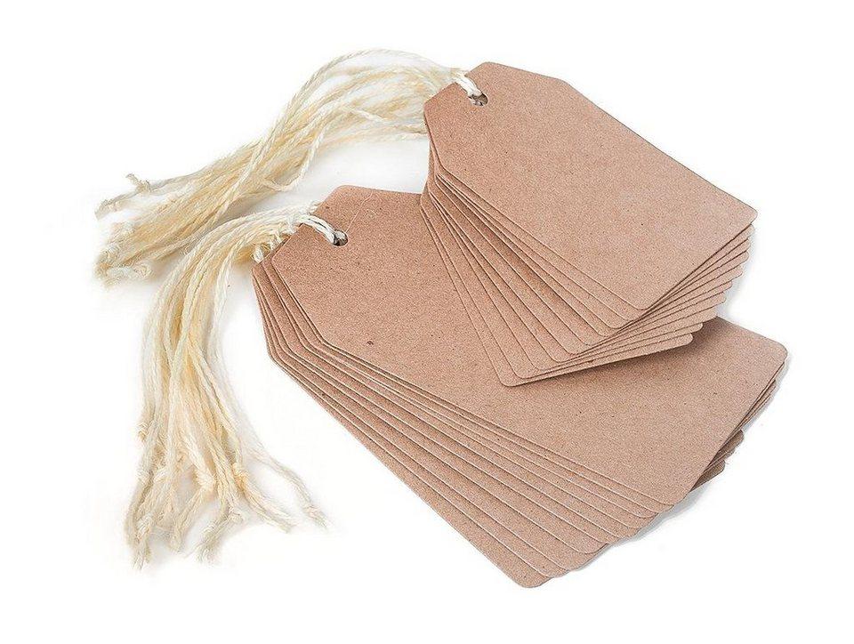 Geschenkanhänger in Kraftpapier