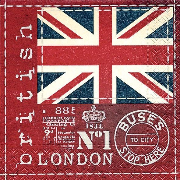 """Serviette """"Britische Flagge"""""""