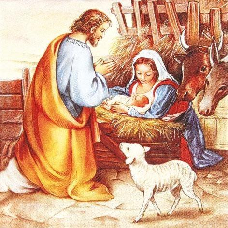 "Serviette ""Geburt Jesu"""