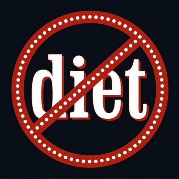 """Serviette """"No Diet"""""""