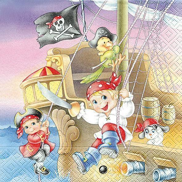 """Serviette """"Piratenkinder"""""""