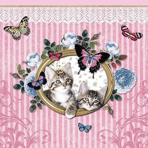 """Serviette """"Royal Cats"""""""