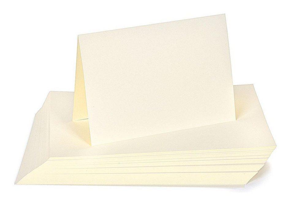 100-tlg. Kartonpaket DIN A5, Großhandelspackung in elfenbein
