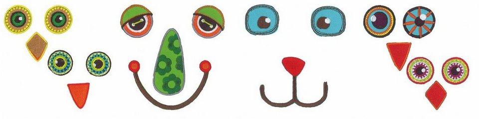 VBS Bügel-Applikationen Eye See you Gesichter, medium