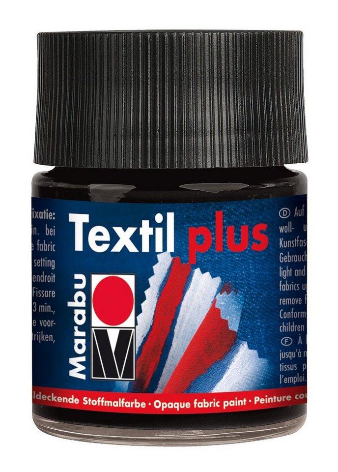 Marabu Textil plus, Glas 50ml in schwarz