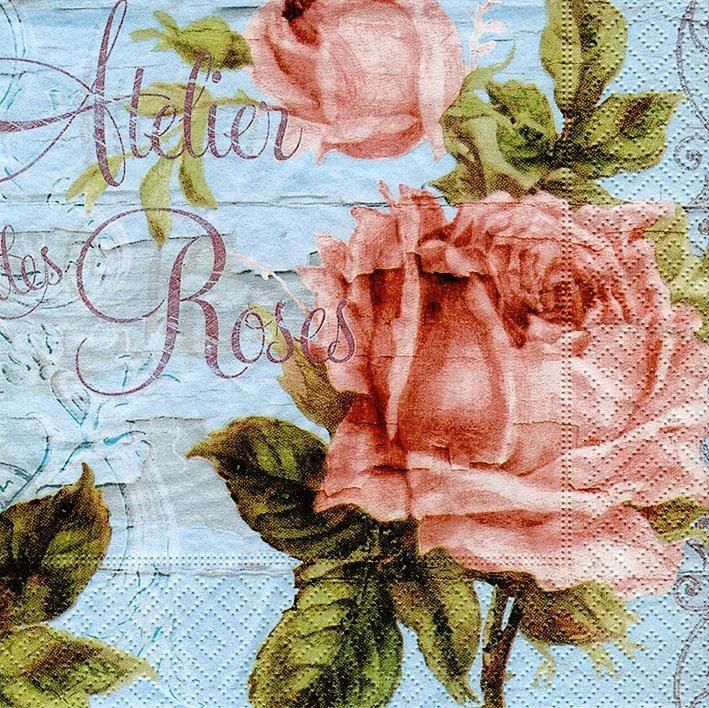 "Serviette ""Atelier Roses"""