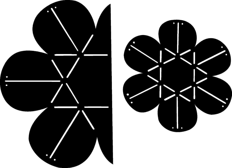 """Schablone """"Blume"""""""