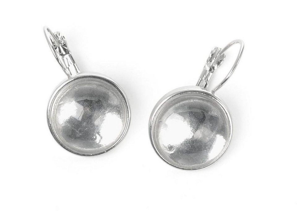 Cabochon-Ohrringe mit Verschlußhaken