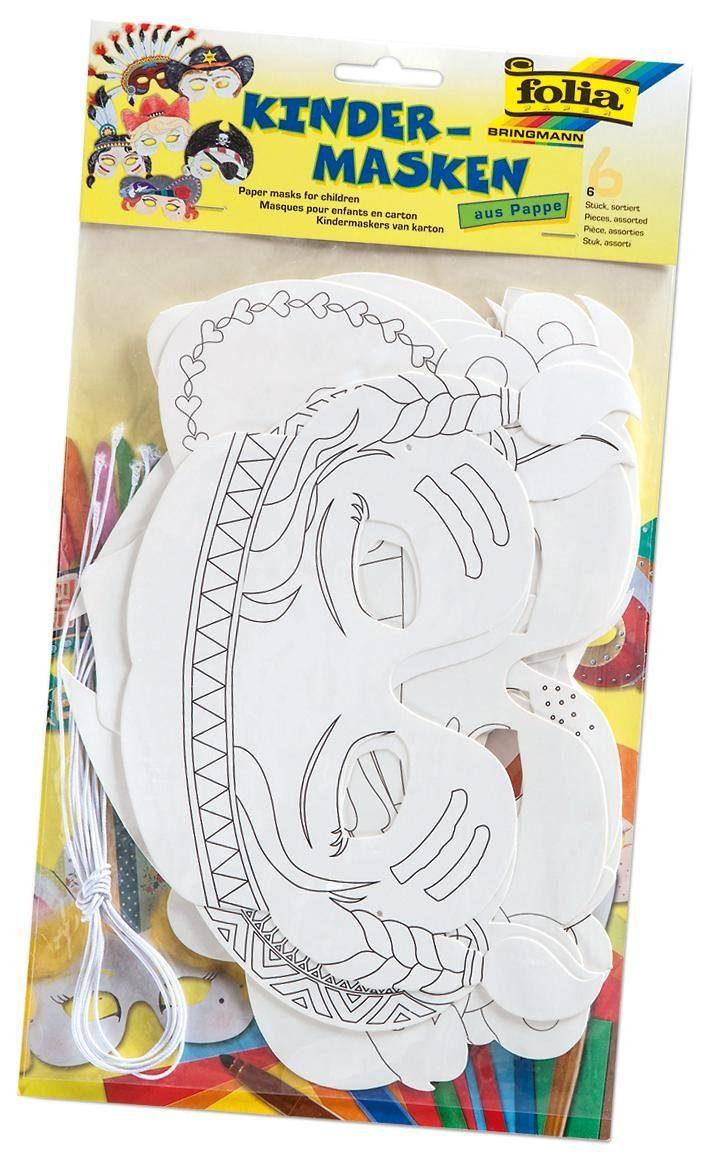 """Folia Kindermasken """"Gesichter"""""""