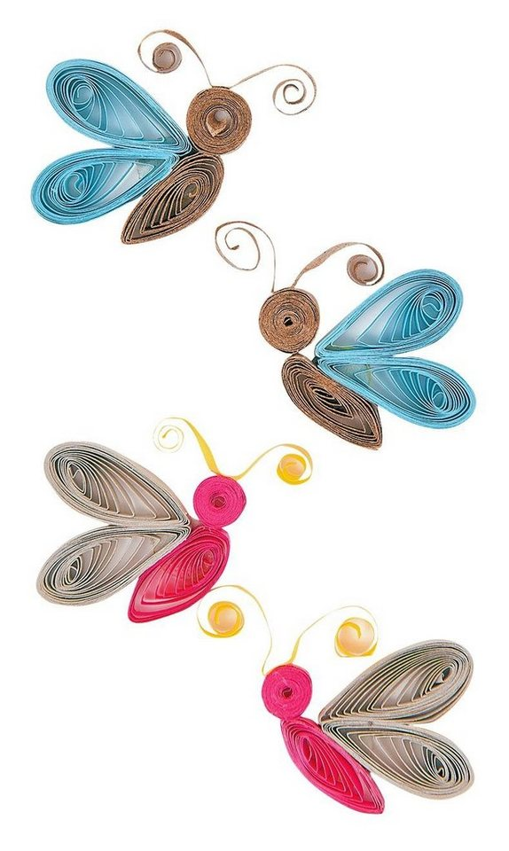 "Quilling Sticker ""Schmetterlinge"""