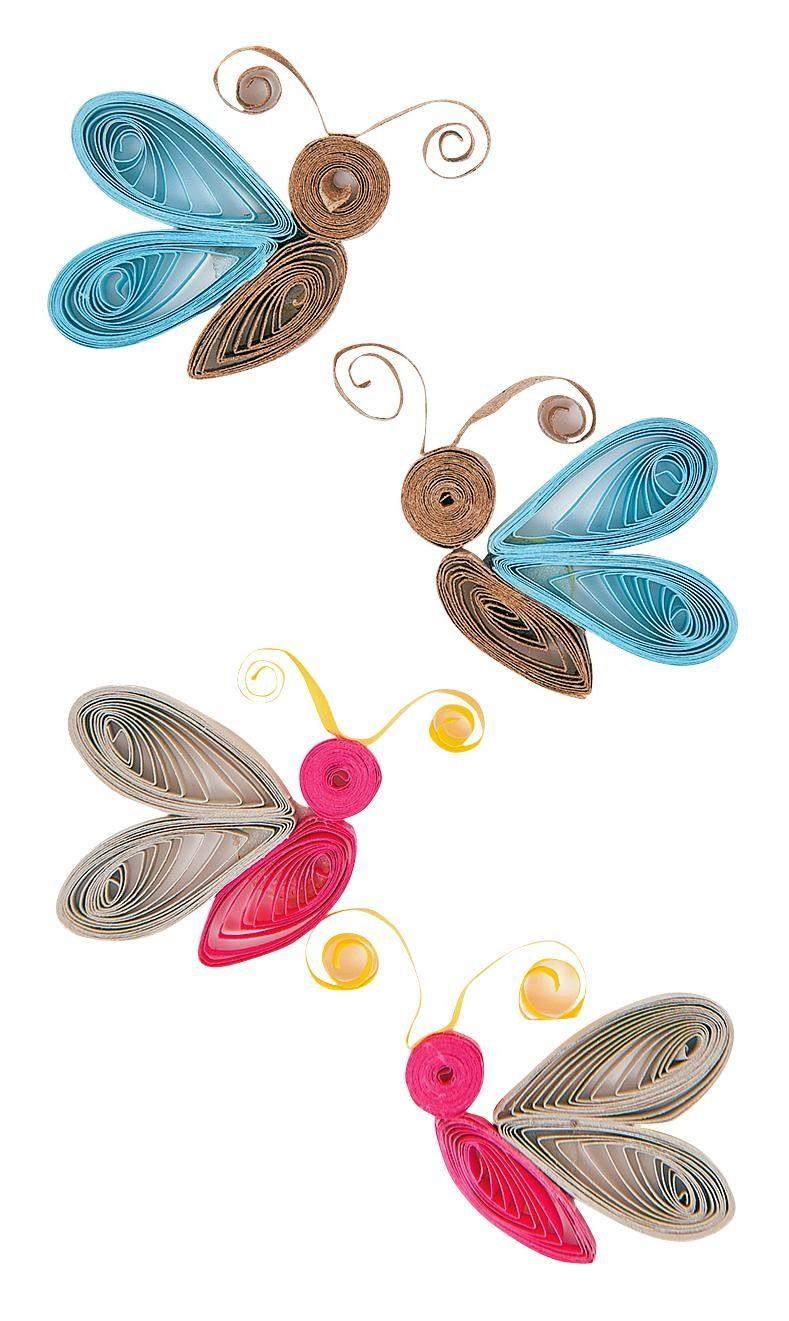 """Quilling Sticker """"Schmetterlinge"""""""
