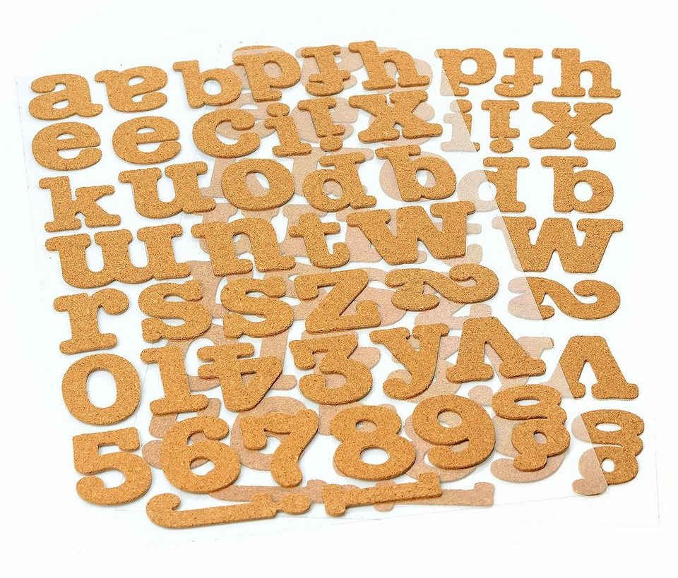 VBS Kork Zahlen & Buchstaben