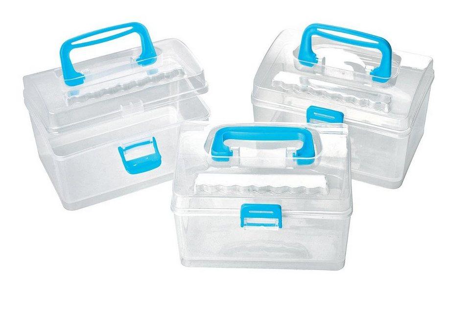 vbs mini aufbewahrungsboxen transparent online kaufen otto. Black Bedroom Furniture Sets. Home Design Ideas