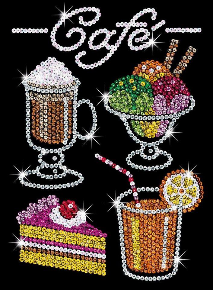 """Paillettenbild """"Café"""""""