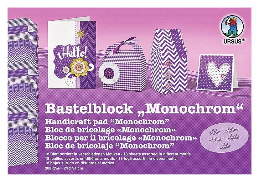 "Bastelblock ""Monochrom"""