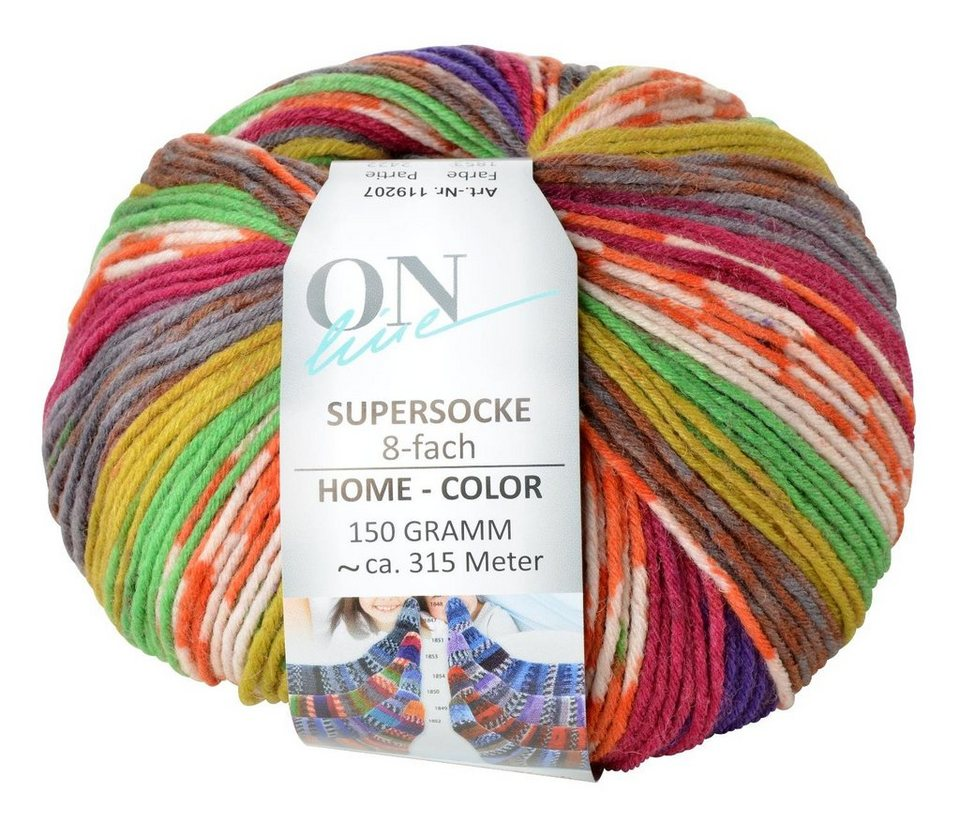"Online Wolle ""Supersocke Home Color"" Linie 196"