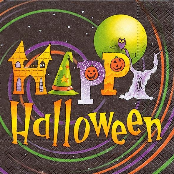 "Serviette ""Happy Halloween"""