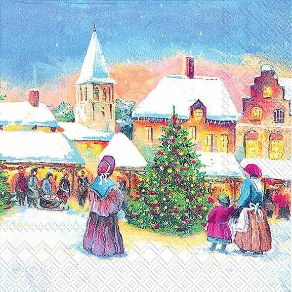 "Serviette ""Christmas Market"""