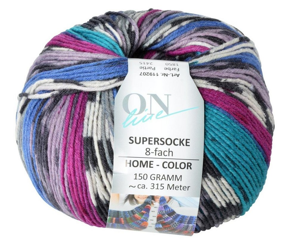 Online Supersocke Home Color, Linie 196