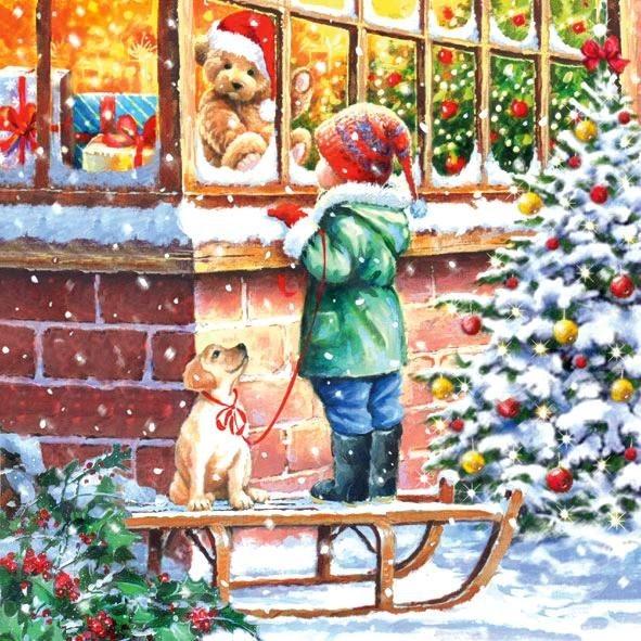 """Serviette """"Weihnachtszauber"""""""