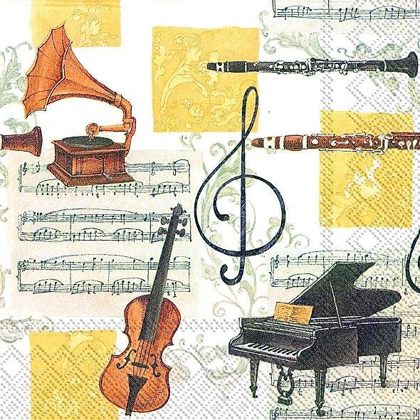 "Serviette ""Musica Classica"""