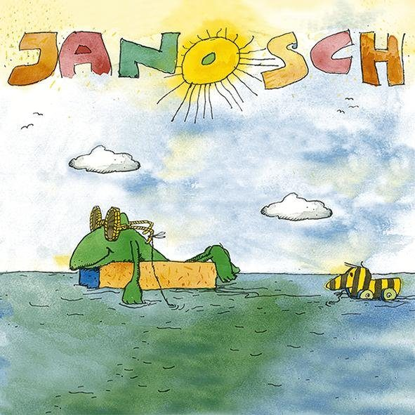 """Serviette """"Janosch - Auf hoher See"""""""
